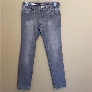 Decree Super Skinny Gray Distressed Jeans Size 11